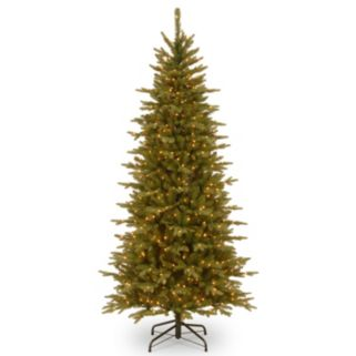 National Tree Company 7.5-ft. Pre-Lit Artificial Sierra Spruce Slim Christmas Tree