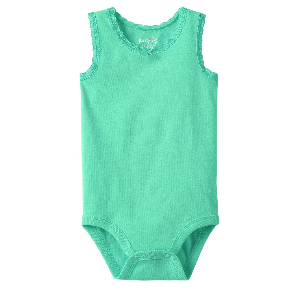 Baby Girl Jumping Beans® Lace-Trim Bodysuit