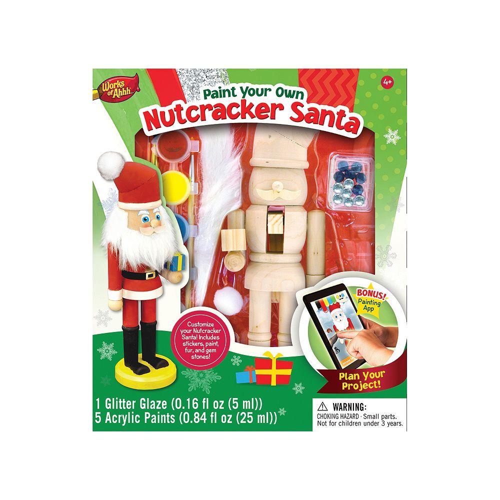 Masterpieces Puzzle Works of Ahhh... Nutcracker Santa Wood Painting Kit