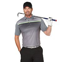 Men's Grand Slam Regular-Fit Gradient-Striped Performance Golf Polo