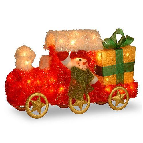 National Tree Company Snowman On Train Christmas Table Decor