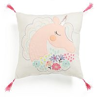 Jumping Beans Unicorn Throw Pillow