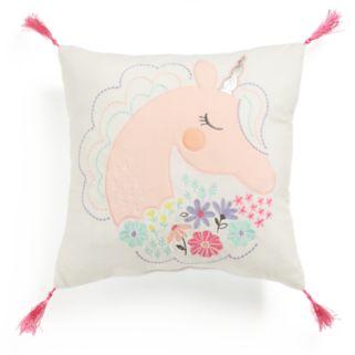 Jumping Beans Unicorn Throw Pillow
