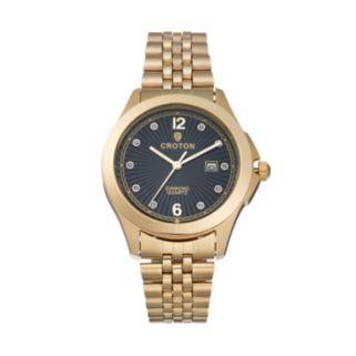 Croton Men's Diamond Stainless Steel Watch