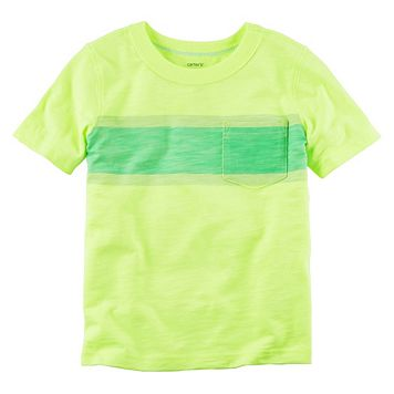 Baby Boy Carter's Yellow Striped Pocket Tee