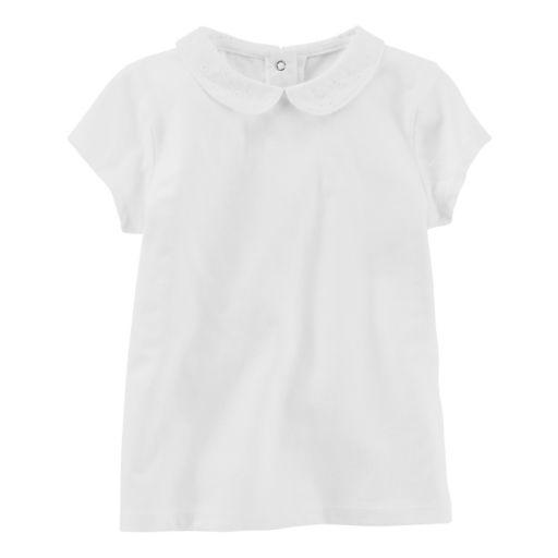 Toddler Girl OshKosh B'gosh® White Eyelet Peter Pan Collar Tee