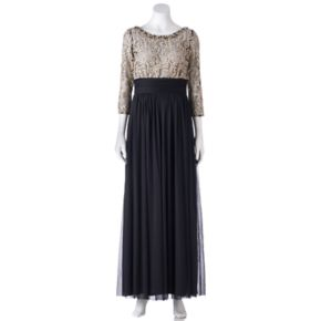 Women's Jessica Howard Contrast Lace Evening Gown