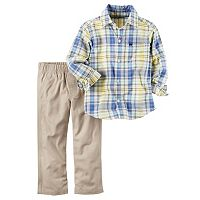 Baby Boy Carter's Plaid Shirt & Solid Pants Set
