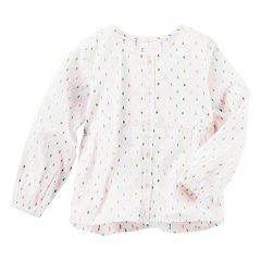 Toddler Girl OshKosh B'gosh® Multi-Colored Swiss Dot Woven Button-Down Top