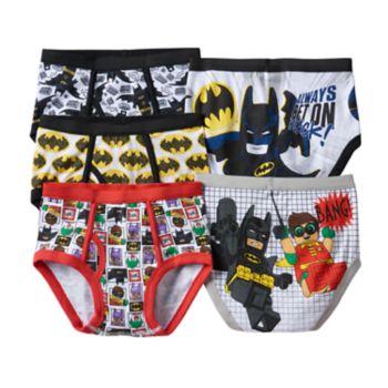 Boys 4-8 The Lego Batman Movie 5-Pack Briefs