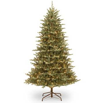 National Tree Company 7.5-ft. Asbury Blue Spruce Hinged Pre-Lit Artificial Christmas Tree