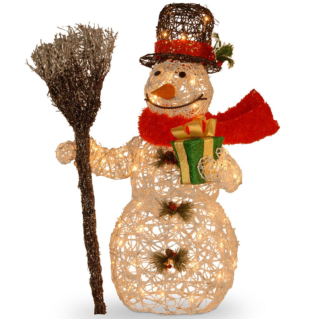 National Tree Company 27-in. Snowman & Broom Christmas Floor Decor