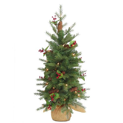 national tree company 3 ft nordic spruce pre lit artificial christmas tree