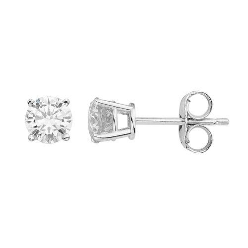 10k Gold 1/5 Carat T.W. Diamond Solitaire Stud Earrings