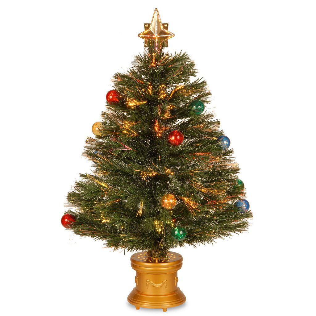 National Tree Company 2.6-ft. Multicolor Fiber-Optic Artificial Christmas Tree Floor Decor
