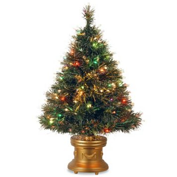 National Tree Company 3-ft. LED Fiber-Optic Artificial Christmas Tree Floor Decor