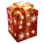 National Tree Company 21.25-in. Pre-Lit Snowflake Present Christmas Decor