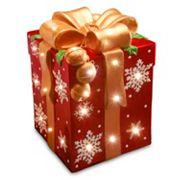 National Tree Company 21.25 in Pre-Lit Snowflake Present Christmas Decor