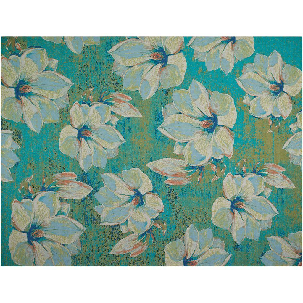 Nourison Home & Garden Floral Cluster Indoor Outdoor Rug - 7'9'' x 10'10''