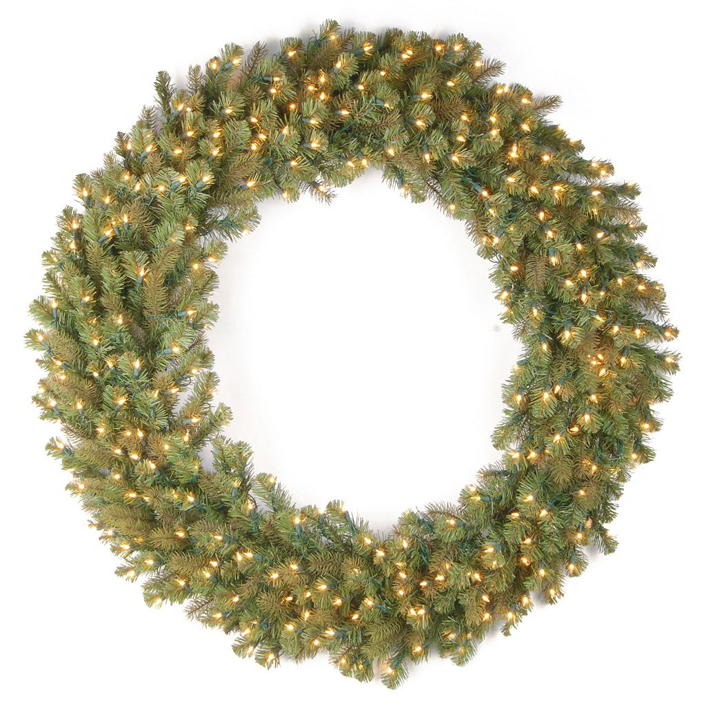 National Tree Company 60-in. Douglas Fir Pre-Lit Artificial Christmas Wreath