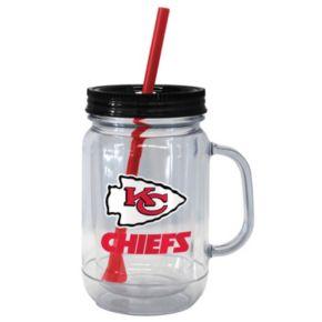 Boelter Brands Kansas City Chiefs 20-Ounce Plastic Mason Jar Tumbler