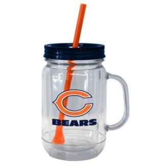 Boelter Brands Chicago Bears 20-Ounce Plastic Mason Jar Tumbler