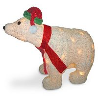 National Tree Company 3D Christmas Polar Bear Table Decor