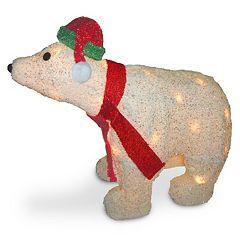 National Tree Company 3D Christmas Polar Bear Table Decor