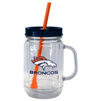 Boelter Brands Denver Broncos 20-Ounce Plastic Mason Jar Tumbler