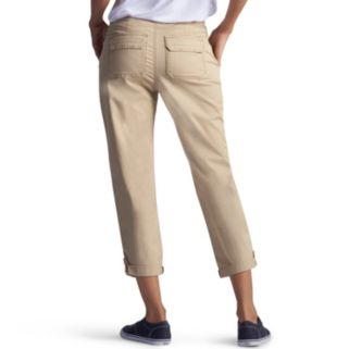 Petite Lee Carsen Relaxed Fit Twill Capris