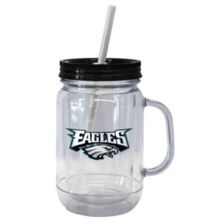 Boelter Brands Philadelphia Eagles 20-Ounce Plastic Mason Jar Tumbler