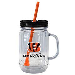 Boelter Brands Cincinnati Bengals 20-Ounce Plastic Mason Jar Tumbler