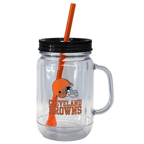 Boelter Brands Cleveland Browns 20-Ounce Plastic Mason Jar Tumbler
