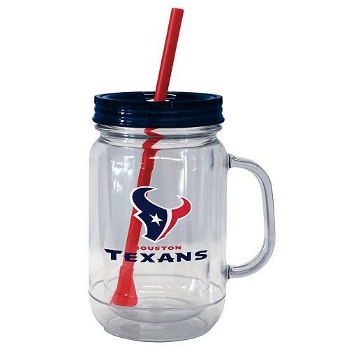 Boelter Brands Houston Texans 20-Ounce Plastic Mason Jar Tumbler