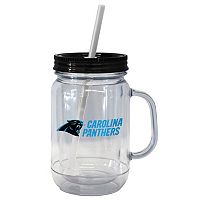 Boelter Brands Carolina Panthers 20-Ounce Plastic Mason Jar Tumbler
