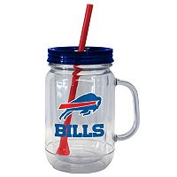 Boelter Brands Buffalo Bills 20-Ounce Plastic Mason Jar Tumbler