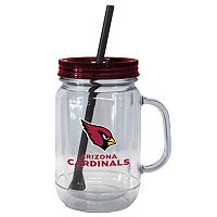 Boelter Brands Arizona Cardinals 20-Ounce Plastic Mason Jar Tumbler