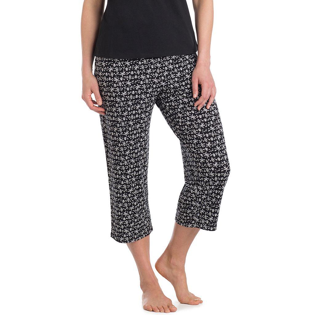 Women's Jockey Pajamas: Palm Tree Print Capris