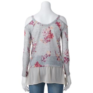 Juniors' About A Girl Cold-Shoulder Top