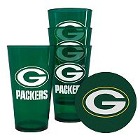 Boelter Brands Green Bay Packers 4-Pack Pint Glasses