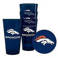 Boelter Brands Denver Broncos 4-Pack Pint Glasses