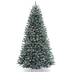 national tree company 75 ft north valley spruce hinged pre lit artificial christmas