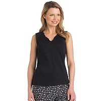Women's Jockey Pajamas: Ruffle V-Neck Tank