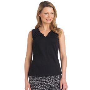Women's Jockey Pajamas: Ruffle V-Neck Tank