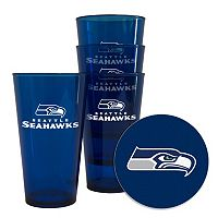 Boelter Brands Seattle Seahawks 4-Pack Pint Glasses