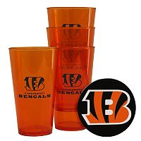 Boelter Brands Cincinnati Bengals 4-Pack Pint Glasses