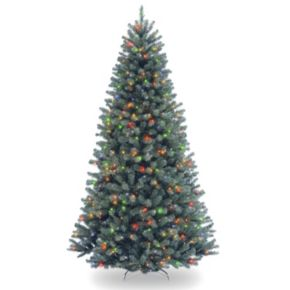 National Tree Company 7.5-ft. North Valley Spruce Hinged Multicolor Pre-Lit Artificial Christmas Tree
