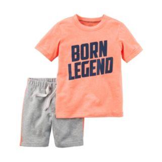 "Baby Boy Carter's ""Born Legend"" Tee & Shorts Set"