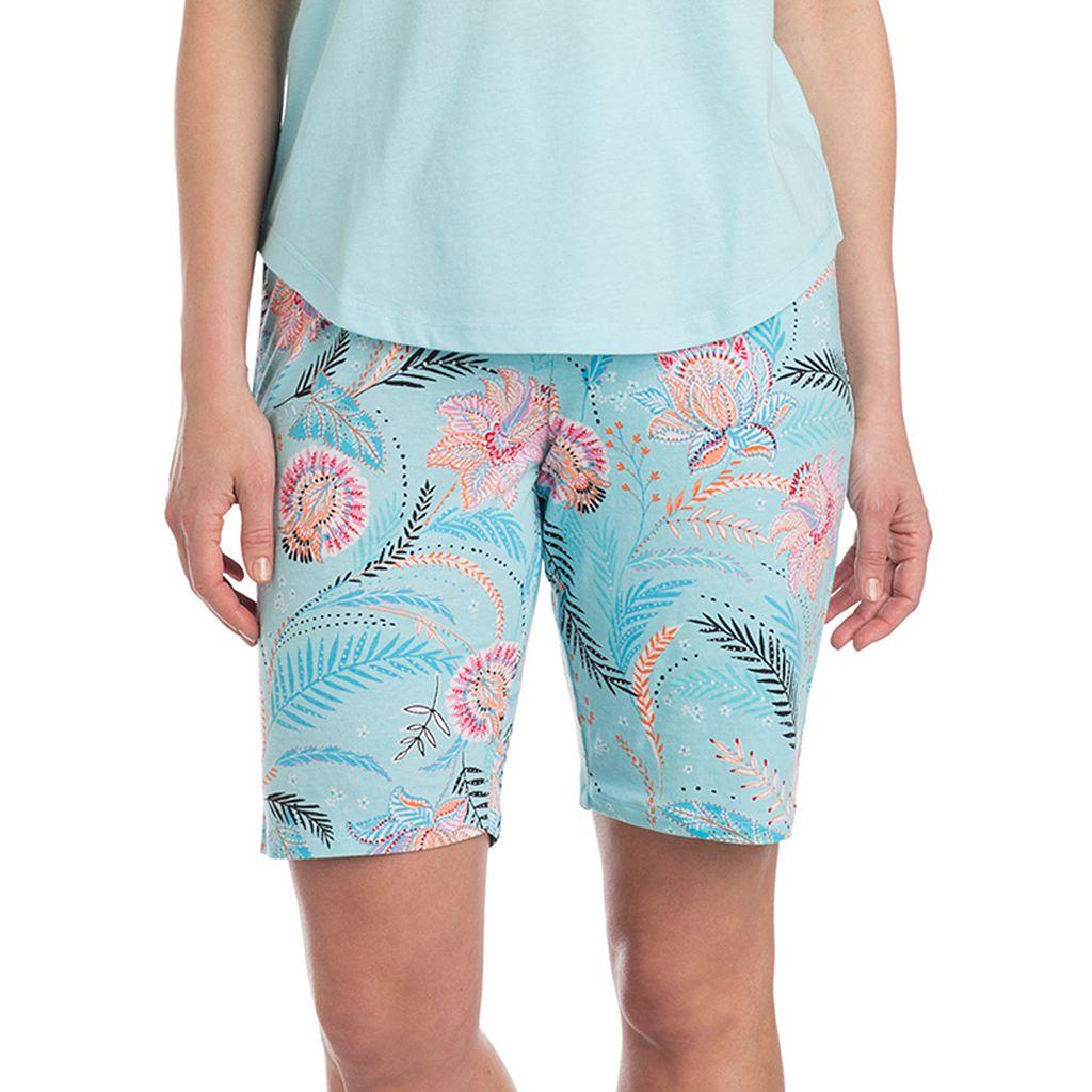 Women's Jockey Pajamas: Marakesh Floral Bermuda Shorts