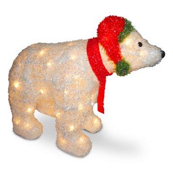 National Tree Company 3D Polar Bear Christmas Table Decor
